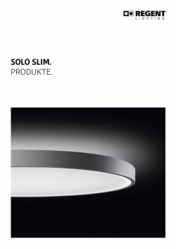 Broschüre Solo Slim-Produkte